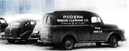 Historic, antique Modern Window Cleaning truck