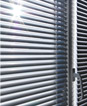 Clean sparkling white window blinds, cleaned with ultrasonic blind cleaning - small image