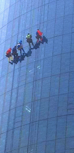 Rappelling superheroes bring smiles to hospitalized kids