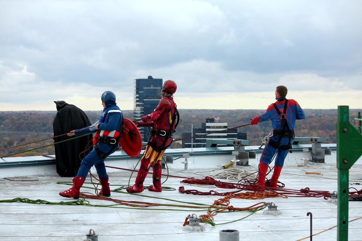The window cleaning superheroes are just about ready to go!
