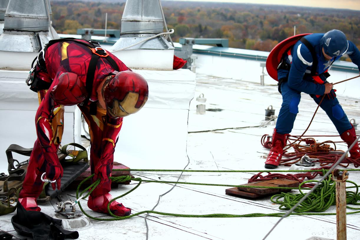 Safety is always the priority for these high rise superheroes