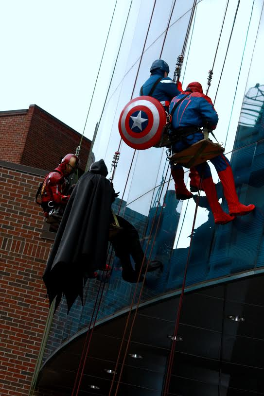 Superheroes making their final descent